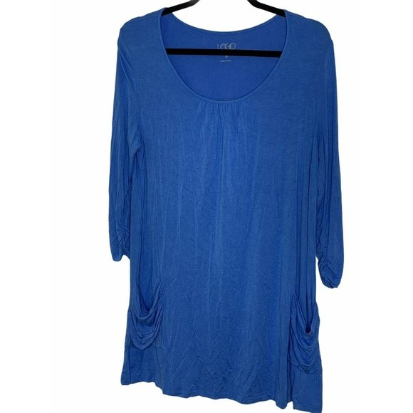 LOGO Lori Goldstein Tunic Top Women's Medium